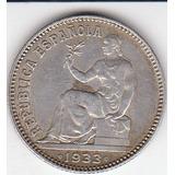 España,  Antigua Moneda De Plata 1 Peseta 1.933