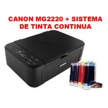 Impresora Multif. Canon Pixma Mg2220 + Sistema De Tinta Cont
