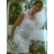 Vestido De Novia Cuadros Distinguidos Tejido A Mano