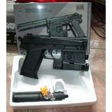 Jgte Adulto Pistola Sp3855fd + Municiones 6mm + Laser