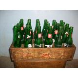 Antigua Jaba De Madera Con Sus 24 Botellas De Seven-up.