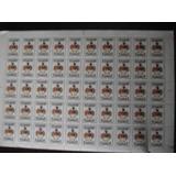 Plancha De 50 Sellos Escudos Ecuador 6.30 Sucres Estampillas