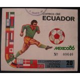 Hojita Souvenir Ecuador Mexico 86 Sello Estampilla