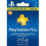 Playstation Network 3 Meses Plus España