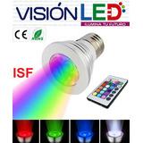 Foco Luz Led Multicolor Luces Rgb Control Remoto Decoración