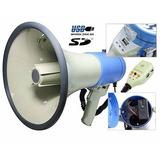 Megafono Usb Sd Sirena 50w Recargable12v Campaña Politica