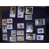 Cuba Lote De 25 Estampillas Tematicas De Aves Sellos