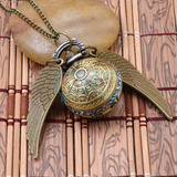 Harry Potter Snitch Dorada Con Reloj Y Cadena Cosplay Qchvr