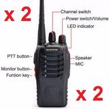 2 Unidades Radios Baofeng = Motorola Bf88 Uhf400-470mhz 5w