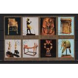 Fujeira 1972 Block De 8 Sellos Arte Egipcio Esculturas