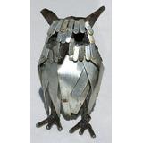 Buho Hecho De Metal Reciclado Importado De Zimbabwe 12cm