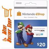 Código Tarjeta - Nintendo Eshop Prepaid Card ($20)