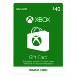 Xbox Live 40 Saldo Xbox Gift Card