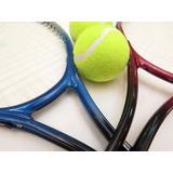 Par De  Raquetas De Tenis +pelota Y Funda Ideal Principiante