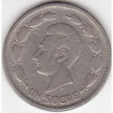 Ecuador, Antigua Moneda De Nickel 1 Sucre 1.937