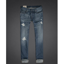 Hollister Jeans Skinny Destroyed Talla 32x30 $65+envio Grati