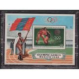 Mongolia 1968 Juegos Olimpicos Mexico Lucha Libre Bandera