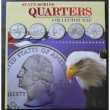 Album Mapa Whitman Monedas Cuartos Estados Distrito Terr