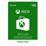 Xbox Live 60 Saldo Xbox Gift Card