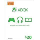 Tarjetas Xbox Live Usa Microsoft Xbox Gift Card $20 Store