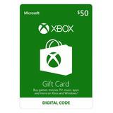 Xbox Live 50 Saldo Xbox Gift Card