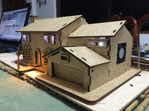Maqueta casa dom tica controlada x bluetooth celular - Domotica para casa ...