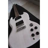Guitarra Eléctrica Gibson Sgj Color Blanco Hueso + Funda