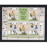 Irlanda Eire 1990 Mundial De Fútbol Italia 90´ Block 5 Sello