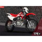 Moto Axxo Trx200 Año 2018 Rojo, Blanco, Negro 200cc