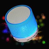Parlante Bluetooth Mini Con Luces Ritmica De 3w Usb Microsd