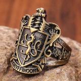 Anillo De Harry Potter Casa Escudo Gryffindor De Colección