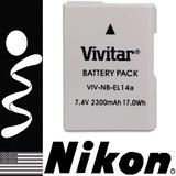 Bateria En-el14a Para Camara Nikon D5300 5200 5100 3200 3100