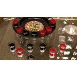 Ruleta Rusa Con 16 Vasos De Vidrio Para Tragos