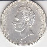 Ecuador Antigua Moneda De Plata, 5 Sucres 1943