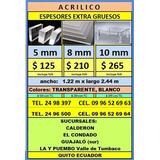Acrilico Extragruesos 10 Mm Policarbonato Solido Macizo O