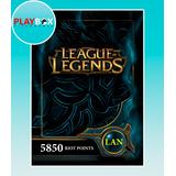 League Of Legends 5850 Riot Points Latinoamerica Norte Lan