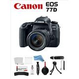 Canon Eos 77d + Lente 18-55mm + Kit Accesorios