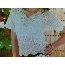 Blusa Flores A Crochet Tejida A Mano