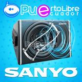 Sanyo Potente Bajo Subwoofer Amplificado 1200w + Kit Cables