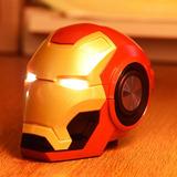 Parlante Speaker Iron Man Con Bluetooth Fm Sd  Aux Luz Led
