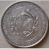 Peru 100 Soles De Oro 1973 Japon Centenario Moneda De Plata