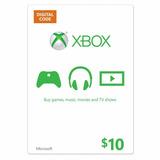 Xbox Live $ 10 Saldo Xbox Gift Card
