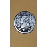 Moneda Predecimal Ecuador! Un Cuarto Real 1855 Gj - Dificil