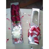 Regalo Arreglos Flores Floral Rosas Peluche En Caja Detalle