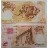 Billetes Mundiales Papua Nueva Guinea 20 Kina 2008 35 Aniver