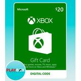 Xbox Live Gift Card $20 / Tarjeta De Regalo Usa