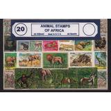 Lote De 20 Estampillas De Fauna Africana