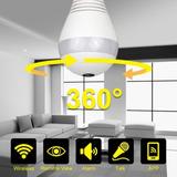 Camara Ip Wifi Foco Espía 360° Monitorea Del Celular