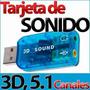 Tarjeta De Sonido Usb Audio 5.1 Canales Digital 3d Externa