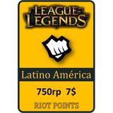 Tarjeta De Recarga De League Of Legends - 750 Riot Points